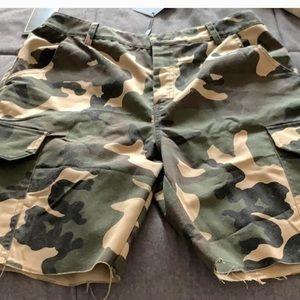 Pants - CAMO CARGO SHORTS